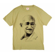 ACCHA☆ [GANDHI] LOOP WEEL SET IN CREW NECK TEE (YELLOW)☆