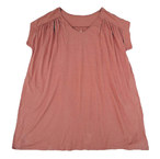 A HOPE HEMP ☆Bamboo V Gathered Tunic