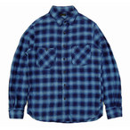 ゴーヘンプ☆GOHEMP BASIC ACTIVE SHIRTS INDIGO CHECK