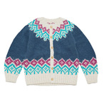 ゴーヘンプ☆GOWEST ESCAPE HAND KNIT CARDIGAN/PERU KNIT