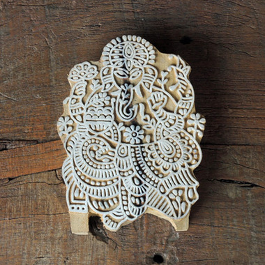 インド木版 ブロックプリントハンコ