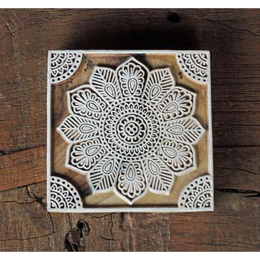 インド手彫り木版スタンプ
